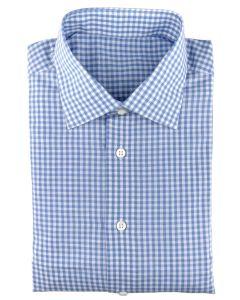 Linen/cotton blue gingham