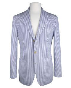 Seersucker blue white jacket