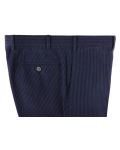 Seersucker blue navy trousers