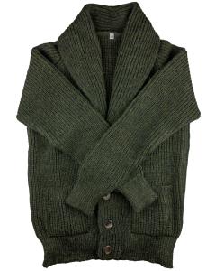 Shawl cardigan green