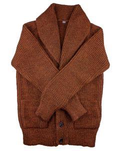 Shawl cardigan brown