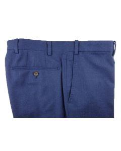 Flannel medium blue trousers