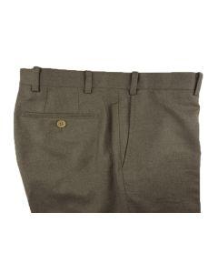 Flannel beige trousers
