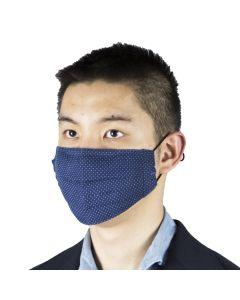 Face mask Thomas Mason pindot blue