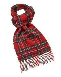 Royal Stewart red tartan merino scarf