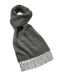 Grey merino scarf