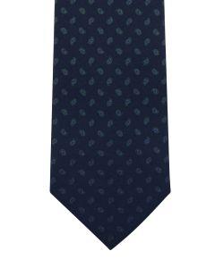 Ancient madder small paisley navy tie