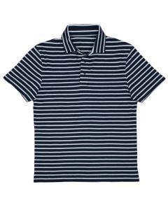 Polo stripe navy white