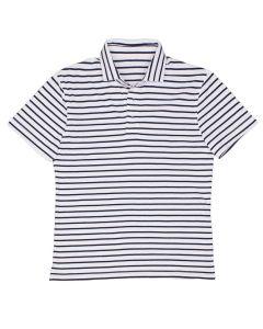 Polo stripe white navy