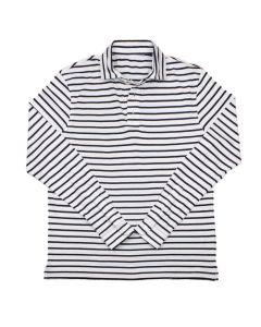 Rugby stripe white navy