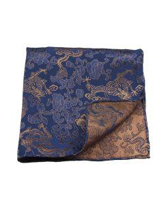 Chinese brocade blue bronze