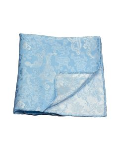 Chinese brocade light blue