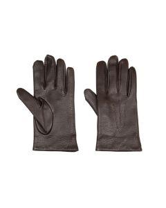 Deerskin gloves dark brown non-touchscreen