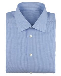 Linen/cotton blue stripe white