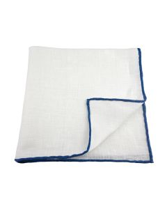 Linen white with navy edge