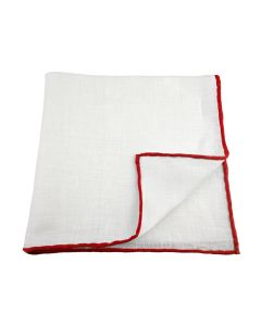 Linen white with red edge