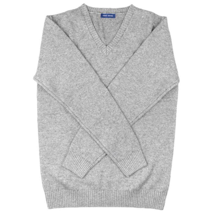 Sweater cashmere light grey