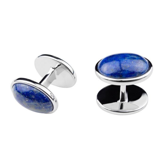 Silver oval lapis lazuli