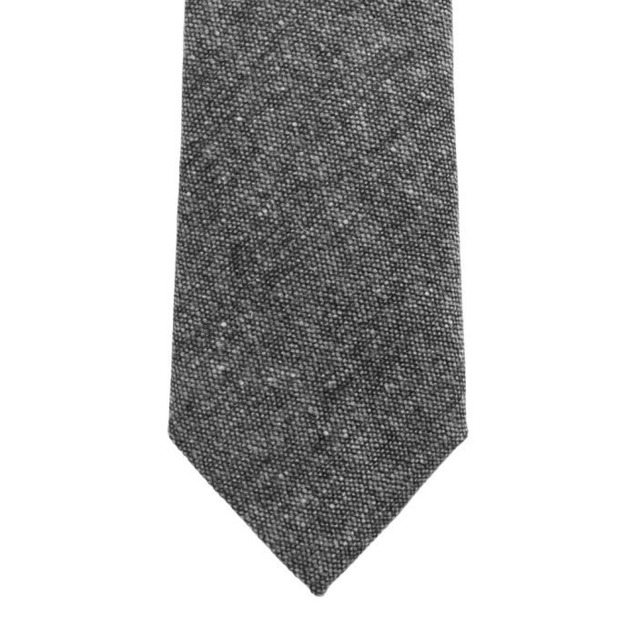 Wool donegal grey