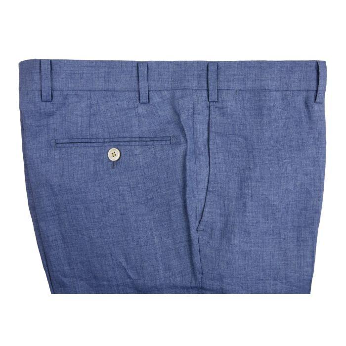 Linen light blue trousers