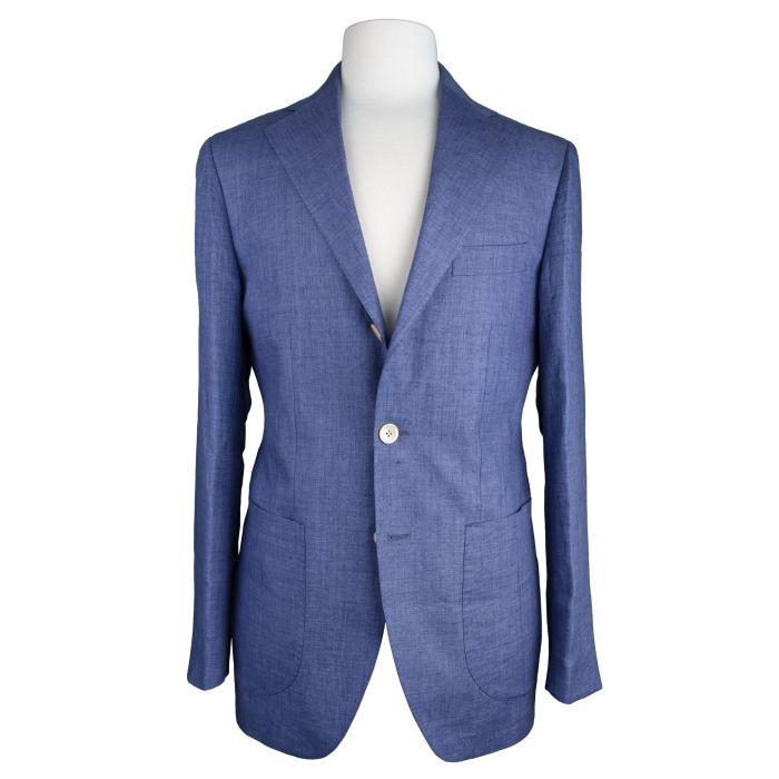 Linen light blue jacket