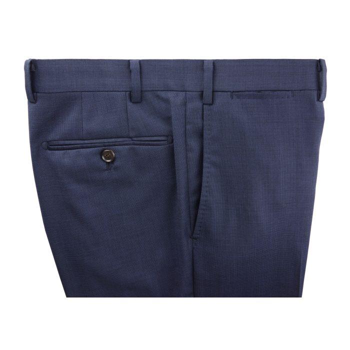 Navy nailhead trousers