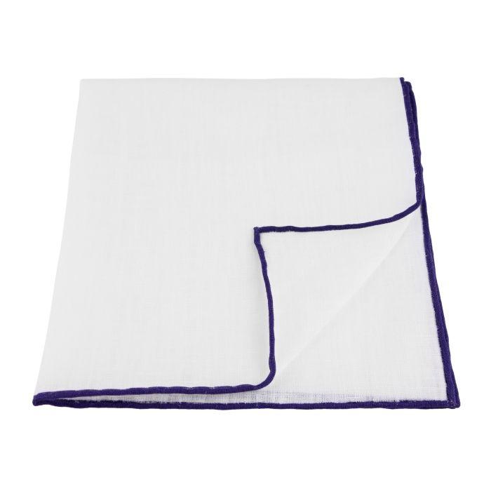Linen white with purple edge