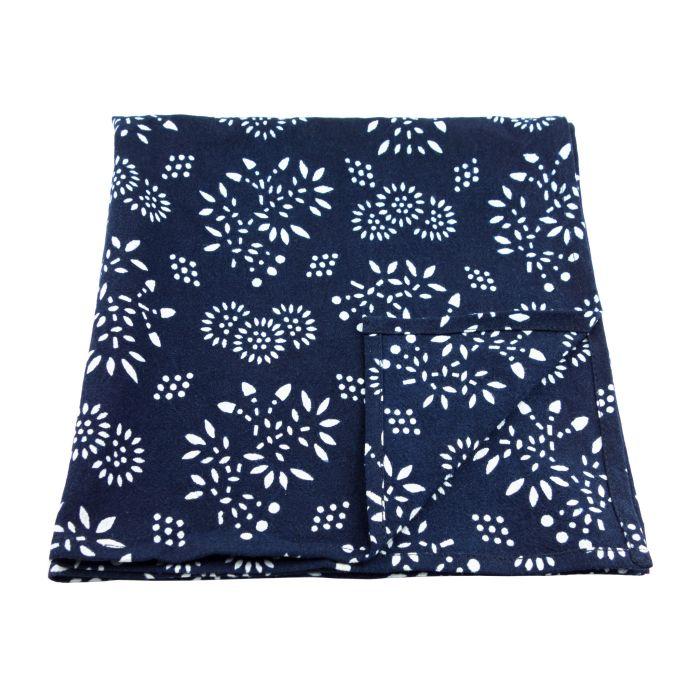 Blue nankeen floral napkin