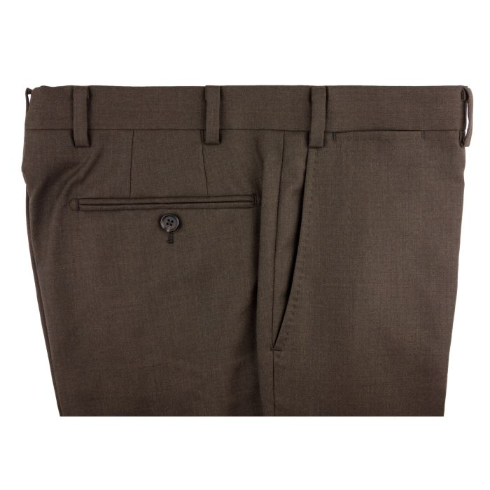 Brown twill trousers