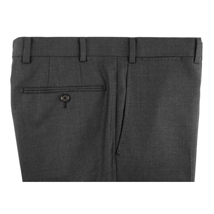 Dark grey pick-and-pick trousers