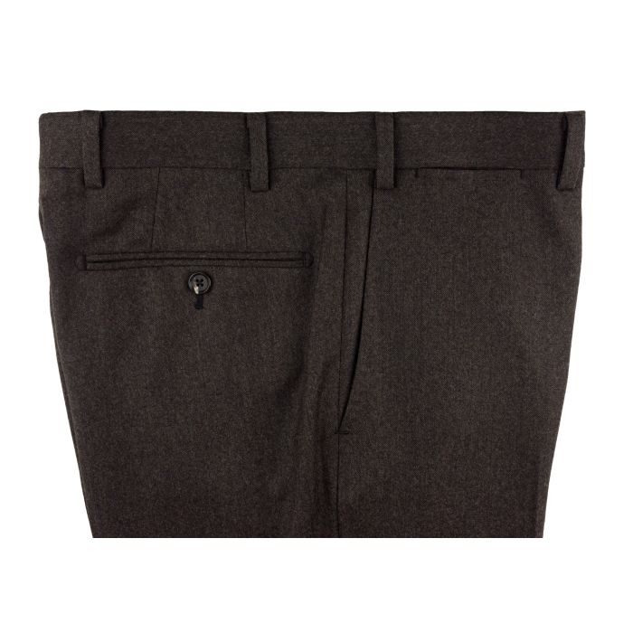 Flannel brown trousers