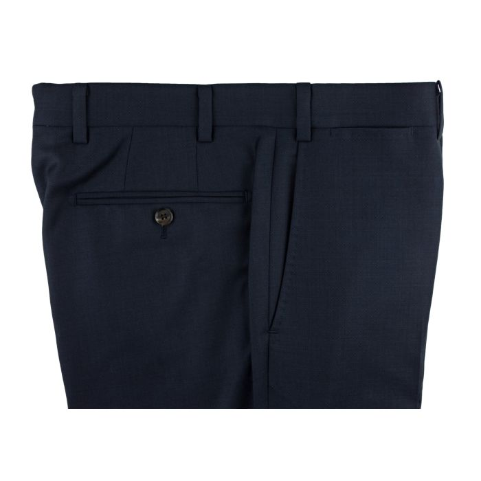 Navy pick-and-pick trousers