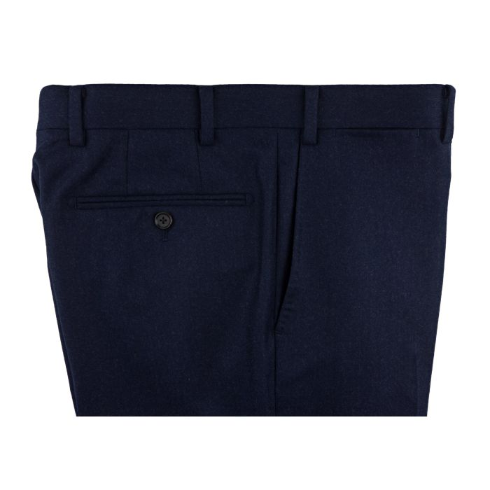 Flannel navy trousers