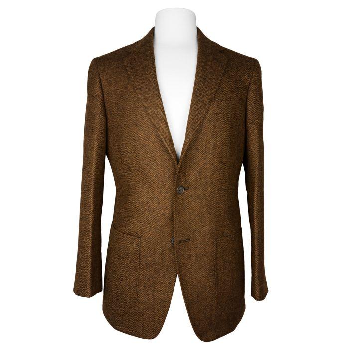 Tweed dark brown jacket