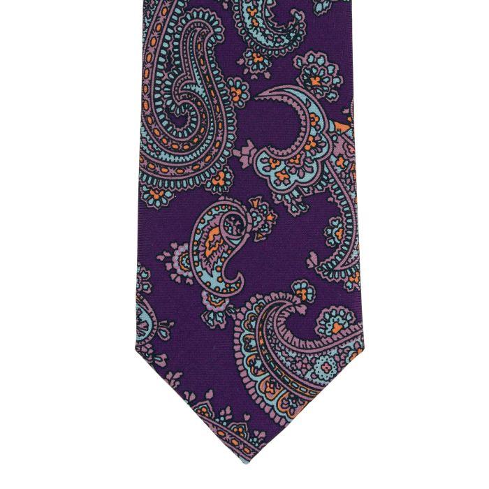 Ancient madder paisley purple tie