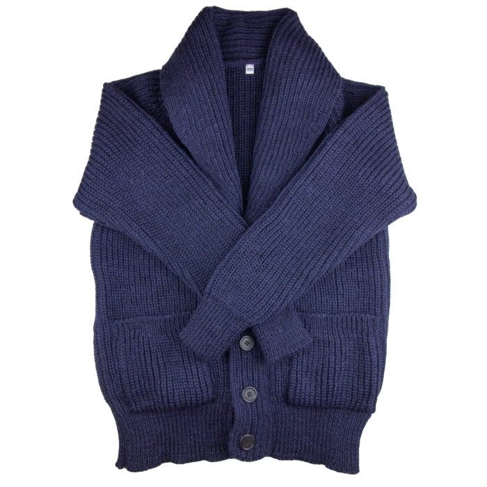 Shawl cardigan navy