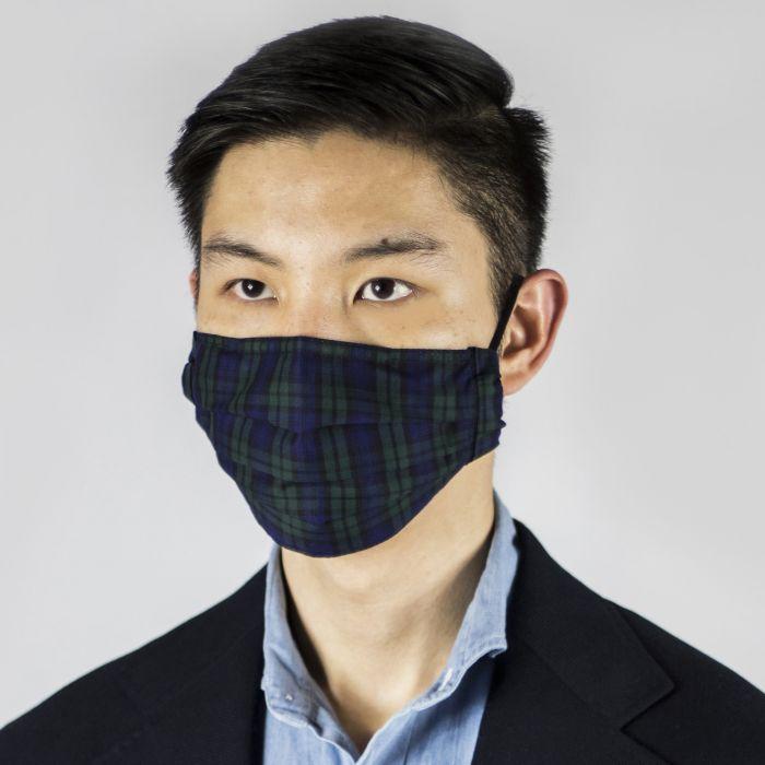 Face mask Thomas Mason tartan Black Watch