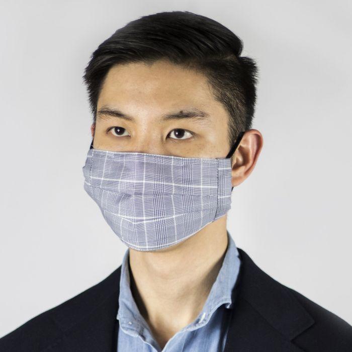 Face mask Thomas Mason glen plaid