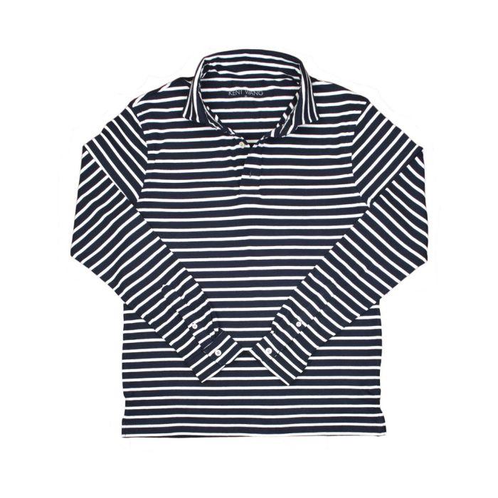 Rugby stripe navy white