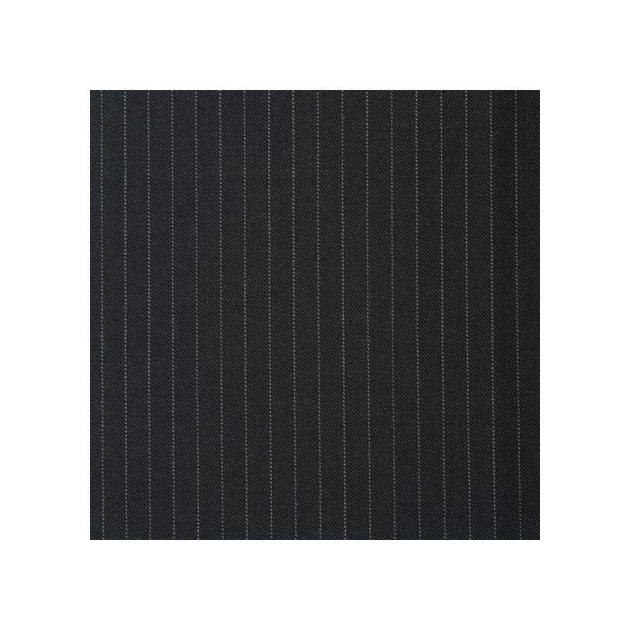 Charcoal pinstripe white 7mm