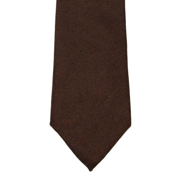 Cashmere herringbone brown