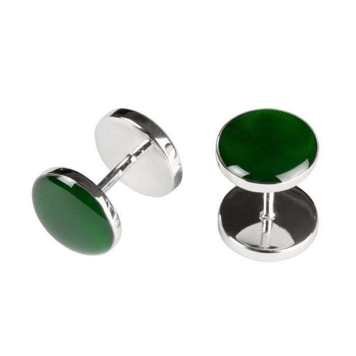 Guilloché enamel green