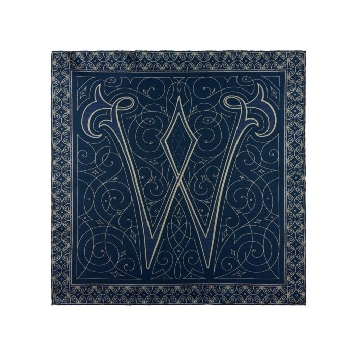 Monogram W blue