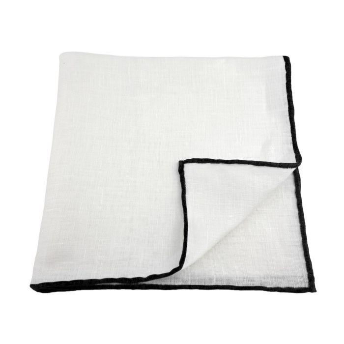 Linen white with black edge