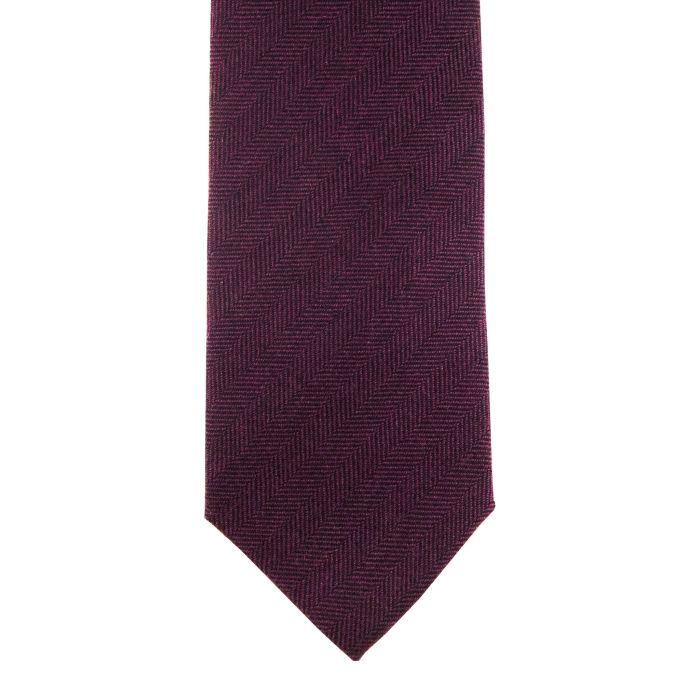 Cashmere herringbone burgundy