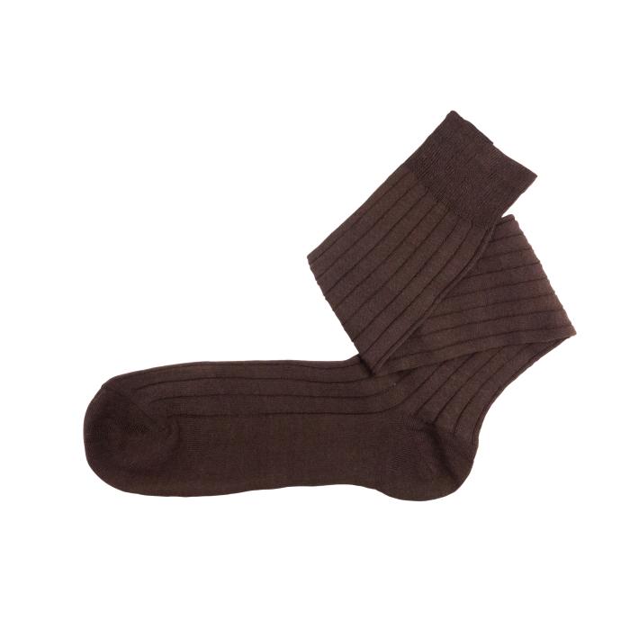 Linen brown socks