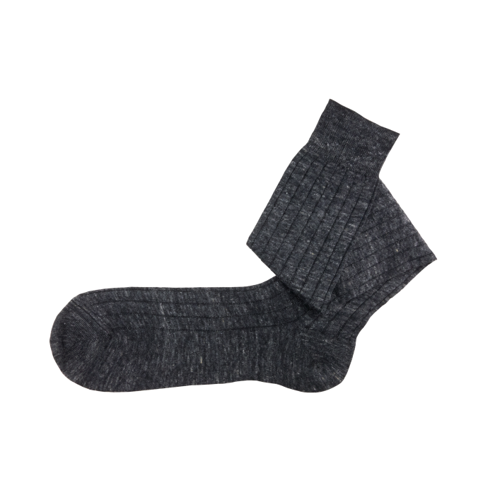 Linen charcoal socks