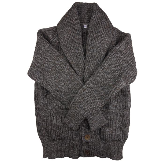 Shawl cardigan grey