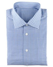 Linen/cotton blue gingham