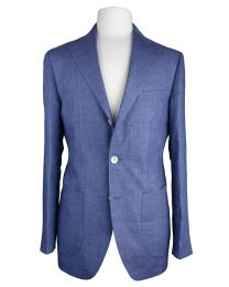 Linen light blue jacket